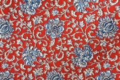Fondo floral colorido de la tela de la tapicería del algodón Foto de archivo libre de regalías