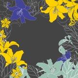 Esquema floral en el fondo blanco Ilustración del Vector