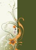 Fondo floral con el espacio para el texto Imágenes de archivo libres de regalías