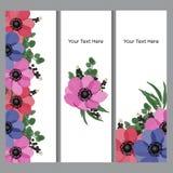 Fondo floral con el lugar para su texto Fotos de archivo