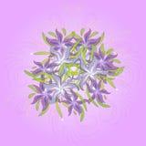 Fondo floral con el ramo de lirios, modelo inconsútil ilustración del vector