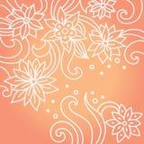 Fondo floral con estilo Imagen de archivo