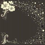 Fondo floral con estilo de la vendimia del vector Fotografía de archivo