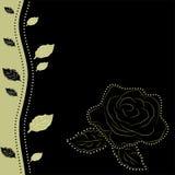 Fondo floral con la rosa, ilustración del vector Fotografía de archivo