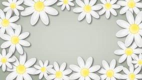 Fondo floral con las flores giratorias libre illustration