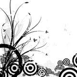 Fondo floral con los círculos Fotografía de archivo libre de regalías