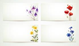 Fondo floral de Baner Fotografía de archivo libre de regalías