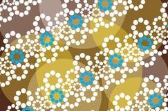 Fondo floral de Brown Imagen de archivo