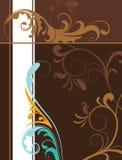 Fondo floral de Brown con el espacio para el texto. Foto de archivo libre de regalías
