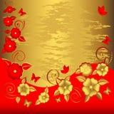Fondo floral de Grunge. Imágenes de archivo libres de regalías