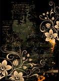 Fondo floral de Grunge Fotos de archivo