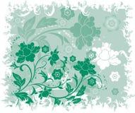 Fondo floral de Grunge, elementos para el diseño, vector Imagen de archivo libre de regalías