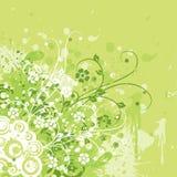 Fondo floral de Grunge, vector Foto de archivo