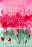 Fondo floral de la acuarela Fotos de archivo libres de regalías