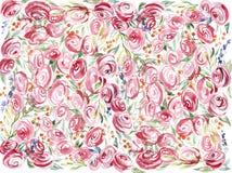 Fondo floral de la acuarela Imagen de archivo
