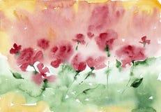 Fondo floral de la acuarela Foto de archivo