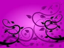Fondo floral de la lila ilustración del vector