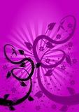 Fondo floral de la lila stock de ilustración