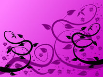 Fondo floral de la lila libre illustration