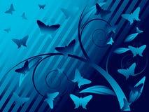 fondo floral de la mariposa Imagenes de archivo