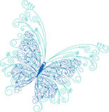 Fondo floral de la mariposa abstracta Fotografía de archivo libre de regalías