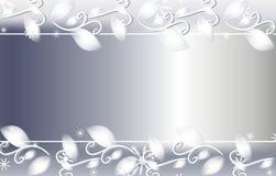Fondo floral de la Navidad de plata stock de ilustración