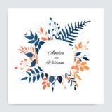 Fondo floral de la pendiente para casarse diseño hojas del diseño Vector stock de ilustración