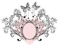 Fondo floral de la tarjeta del día de San Valentín ilustración del vector