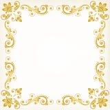Fondo floral de la vendimia Imagen de archivo libre de regalías