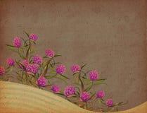 Fondo floral de la vendimia Fotografía de archivo