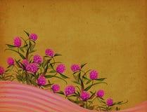 Fondo floral de la vendimia Fotografía de archivo libre de regalías