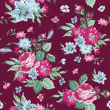 Fondo floral de la vendimia Fotos de archivo