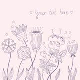 Fondo floral de la vendimia imágenes de archivo libres de regalías