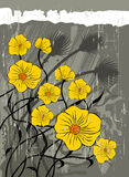 Fondo floral de la vendimia libre illustration