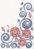 Fondo floral de la vendimia Imagenes de archivo
