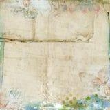 Fondo floral de la vendimia del marco del resorte Imágenes de archivo libres de regalías