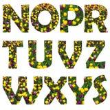 Fondo floral de los alfabetos Imagen de archivo