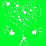 Fondo floral de los pájaros Imágenes de archivo libres de regalías