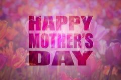 Fondo floral de madres del texto feliz del día Imágenes de archivo libres de regalías
