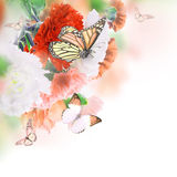 Fondo floral de rosas Imagen de archivo