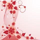 Fondo floral de Rose Foto de archivo