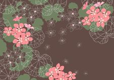 Fondo floral decorativo Fotografía de archivo libre de regalías