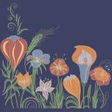 Fondo floral decorativo Foto de archivo libre de regalías