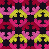 Fondo floral decorativo inconsútil Textura del garabato Adorno retro Fotografía de archivo