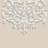 Fondo floral decorativo que remolina del vector Imágenes de archivo libres de regalías