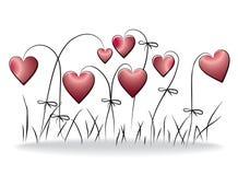 Fondo floral del amor Fotografía de archivo libre de regalías