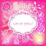 Fondo floral del amor. Vector el ejemplo, puede ser utilizado como creatina Imagen de archivo libre de regalías