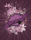 Fondo floral del blindaje stock de ilustración