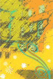 Fondo floral del color Foto de archivo