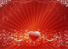 Fondo floral del corazón Imagen de archivo